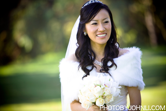 Pacific Palm bride portrait