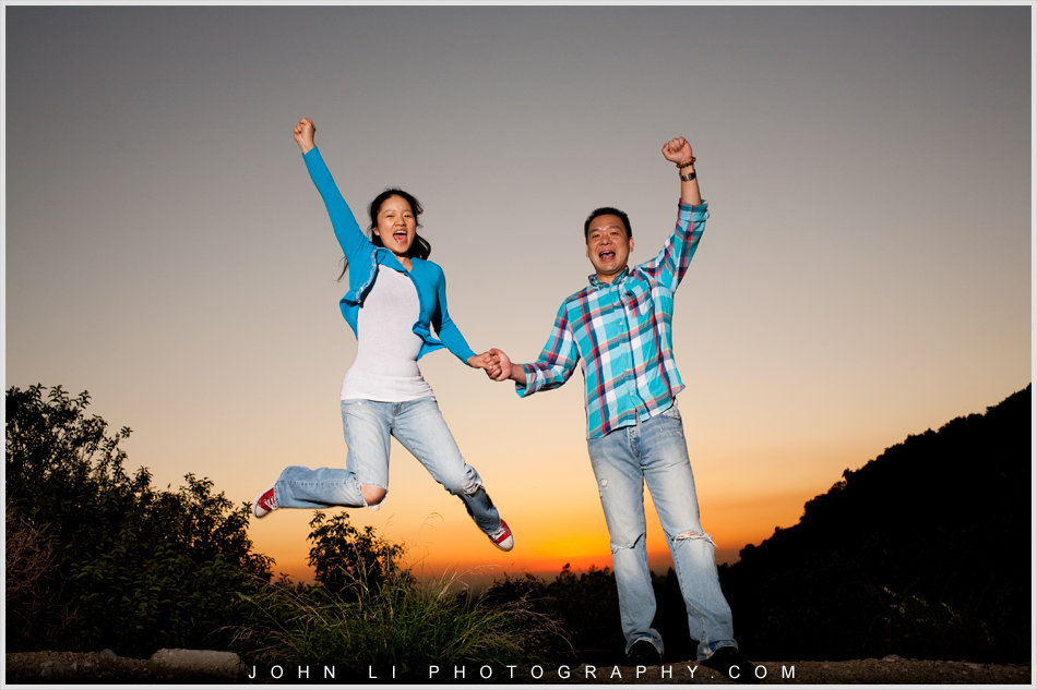 engagement pose idea jumping  Arcadia Wedding Photographer
